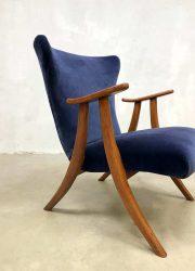 vintage design wingback chair armchair Danish Scandinavian design stoel fauteuil