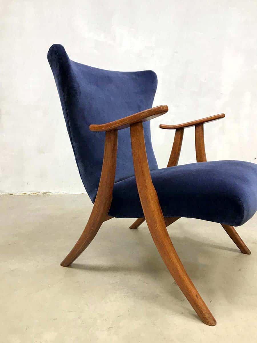 2 Oor Fauteuils.Midcentury Modern Wingback Chair Vintage Oorfauteuil