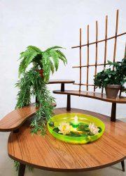 vintage design plantentafel plant stand fountain fontein bijzettafel