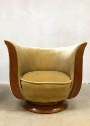 midcentury modern Tulip chairs Le Malandre model Depose Tulp stoel