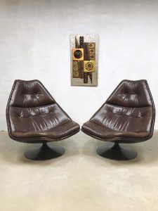 Vintage design swivel chair Artifort draaifauteuil Geoffrey Harcourt F511