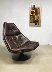 Artifort Dutch design swivel chair F511 lounge fauteuil Harcourt