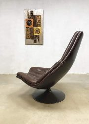 midcentury modern swivel chair Harcourt Geoffrey Dutch design