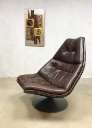 vintage swivel chair lounge fauteuil Artifort Harcourt F511
