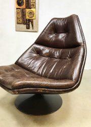 vintage draaifauteuil Artifort Harcourt swivel chair F511 Geoffrey Harcourt