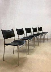 Vintage dining chairs Martin Visser eetkamerstoelen Spectrum SE06