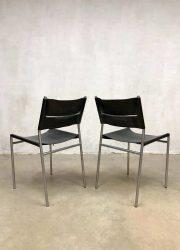 vintage Dutch design dining chairs eetkamerstoelen SE06 Martin Visser Spectrum