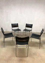 vintage eetkamerstoelen Dutch design Martin Visser SE06 dining chairs