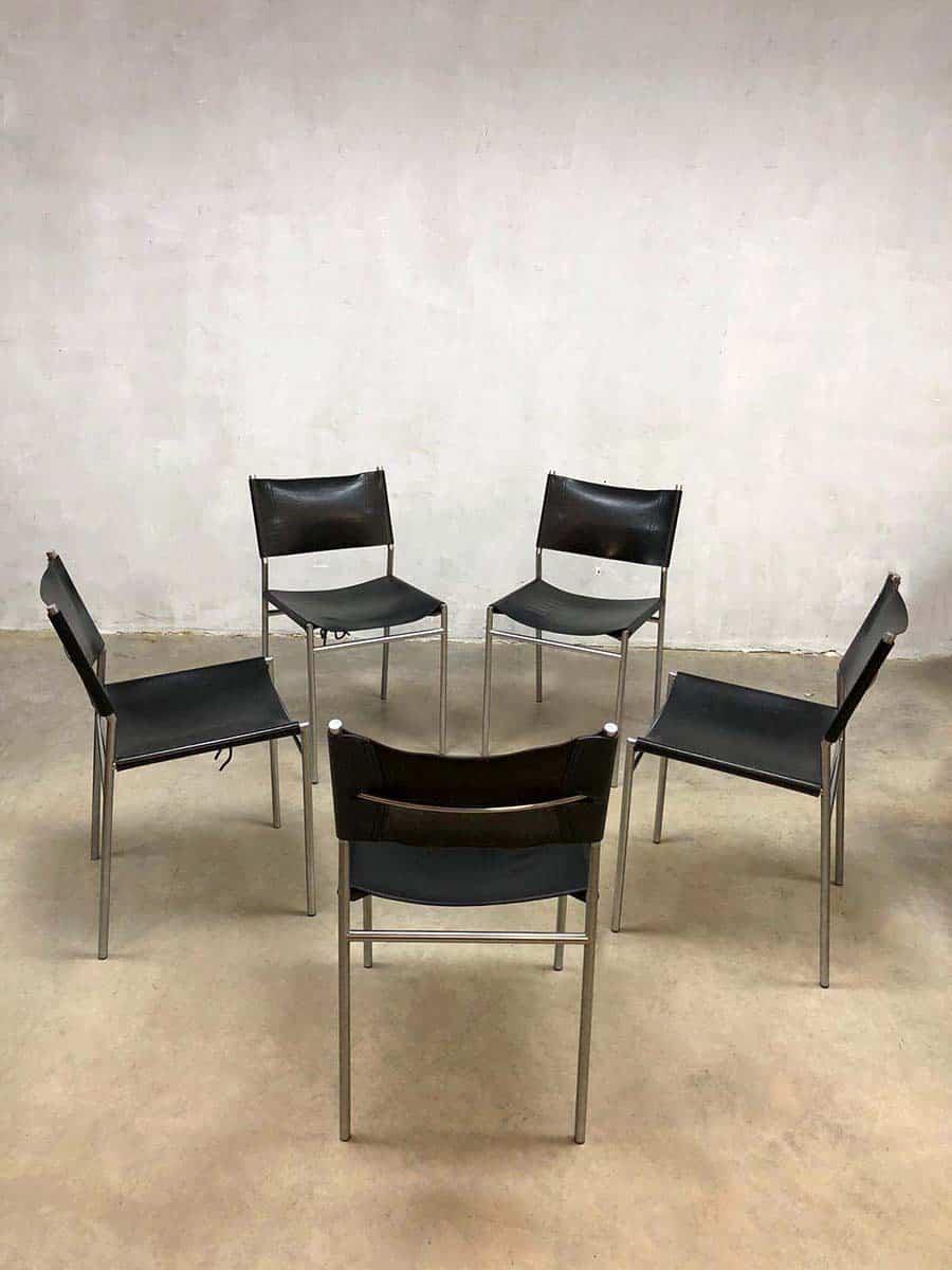 Vintage dining chairs martin visser eetkamerstoelen for Dutch design eetkamerstoelen