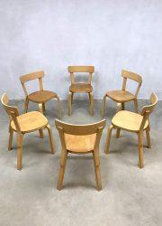 Vintage design dining chair Alvar Aalto eetkamerstoel Artek Finland 69