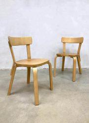 Vintage Alvar Aalto chairs dining chairs Artek stoelen 69