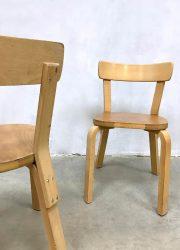 vintage dining chairs Artek Finland design Scandinavian modern stoelen