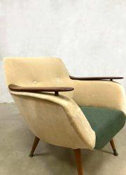 Club chair arm chair velvet Danish vintage design Deens