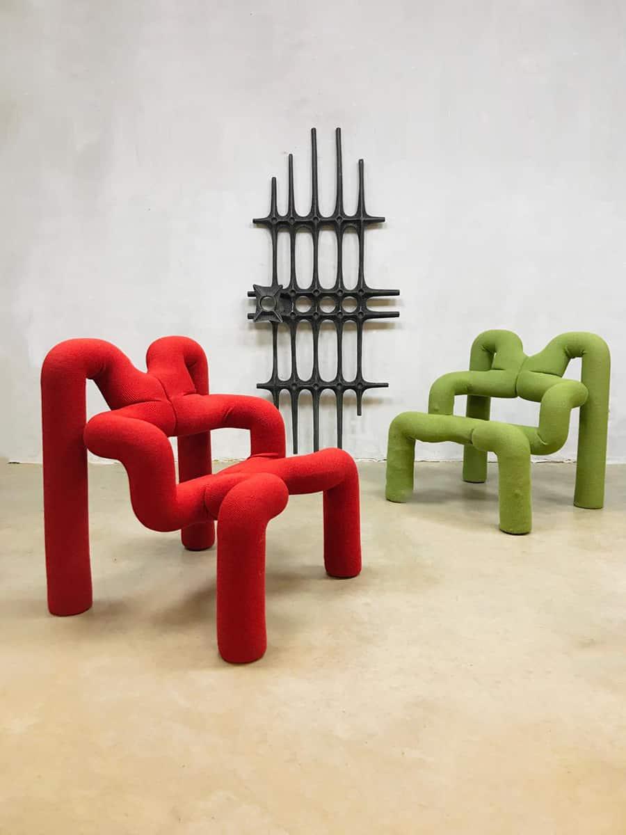 Vintage Design Chair Terje Ekstr 248 M Ekstrem Lounge Fauteuil