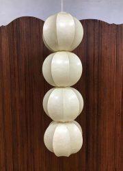 midcentury modern pendant lamp cocoon fibre glass Italian design Castiglioni
