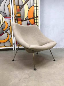 Vintage design Artifort 'Oyster' chair Pierre Paulin lounge fauteuil F157