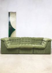 Vintage design velvet modular sofa seating elements bank