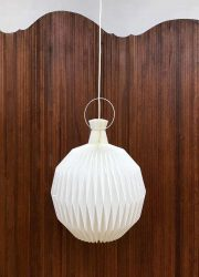 Danish modernist design pendant lamp 'the lantern' plissé lamp le Klint