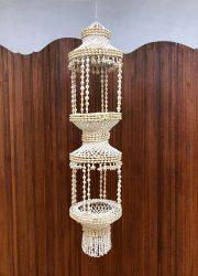 Vintage seashell plant hanger chandelier schelpen hanger Ibiza style