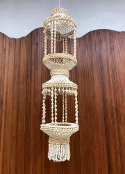 Ibiza style shell chandelier deco schelpen lamp