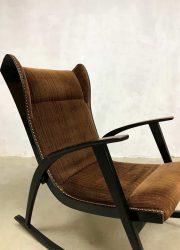 vintage Scandinavian design rocking chair schommelstoel