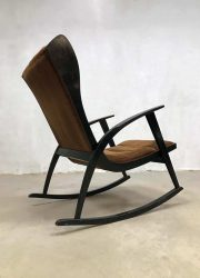 vintage design rocking chair wingback chair schommelstoel