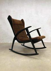 Scandinavian modern rocking chair schommelstoel oorfauteuil wingback chair
