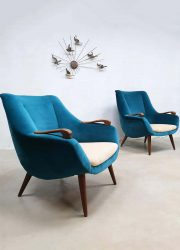 vintage design lounge chairs Scandinavische stijl Scandinavian arm chairs fifties design