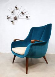 vintage lounge fauteuil teddy chair jaren 50 midcentury design