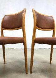 Niels O Moller dining chairs vintage danish design eetkamerstoelen