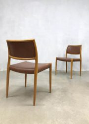 midcentury modern dining chairs eetkamerstoelen light oak no 80