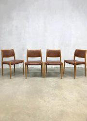 vintage Danish design Moller chairs no 80 dining chairs