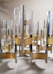 vintage Italian design chandelier pendant Gaetoano Sciolari kroonluchter