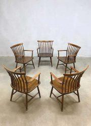 vintage eetkamerstoelen Akerblom Zweden design chairs
