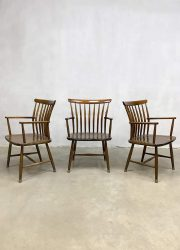 vintage Swedish design dining chairs eetkamerstoelen