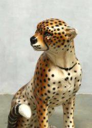 vintage Italiaanse keramieke tijger tiger cheetah Italian ceramic design