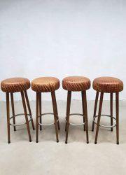 leren vintage barkruk krokodillen leren krukken barkrukken vintage crocodile leather barstools stools