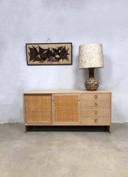 midcentury mobler Denmark Hans Wegner light oak wood cabinet