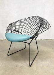 vintage draadstoel Harry Bertoia diamond chair 1950
