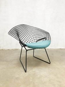 Vintage design wire chair diamond chair Harry Bertoia fauteuil 421 Knoll international