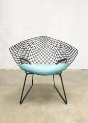 midcentury modern diamond chair American design Harry Bertoia 1950 wire draad fauteuil