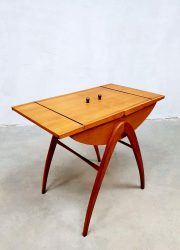 vintage design sixties Sewing box sidetable