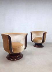 Art deco Tulip stoelen vintage classic Tulip chairs jaren 30 thirties design