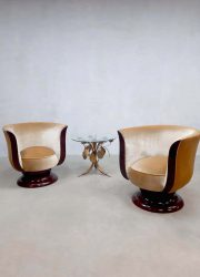 Art deco Tulip lounge chairs tulp stoel hotel Le Malandre model Depose
