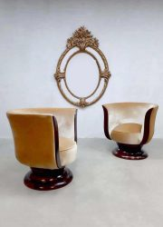 Art deco Tulip lounge chairs tulp stoel hotel 'Le Malandre' model Depose