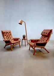 Bruno Mathsson Scandinavian vintage design lounge chair