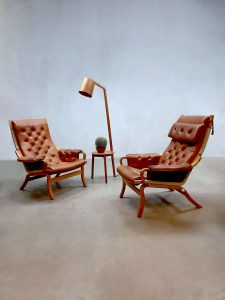 Bruno Mathsson Scandinavian vintage design lounge chair