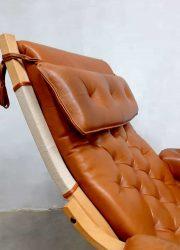 Lounge chair fauteuil Scandinavian vintage design Scandinavisch Bruno Mathsson