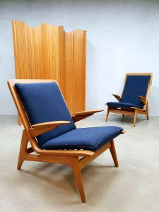 Midcentury modern easy chairs De Ster Gelderland lounge fauteuils