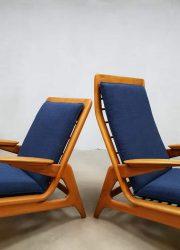vintage Dutch design chair De Ster Gelderland easy chair